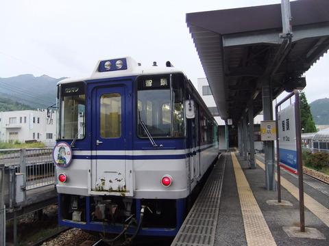宮本えりおヘッドマーク列車(智頭駅)
