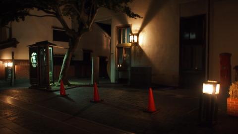 夜の竹原・町並み保存センター前