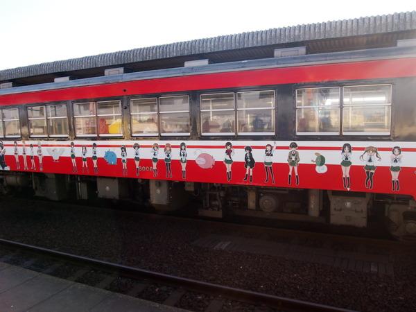 ガルパン列車で大洗へ (15)