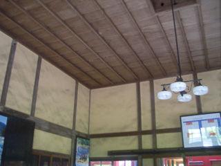 矢岳駅駅舎天井