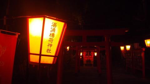 45ぼんぼり点灯(湯涌稲荷神社)