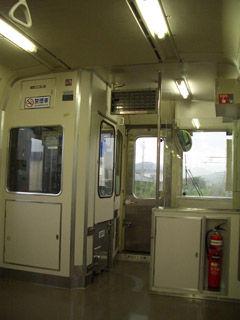 E127系電車車内(運転席側)