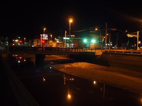 夜の竹原・本川橋