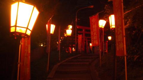 44ぼんぼり点灯(湯涌稲荷神社)