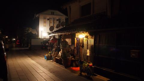 夜の竹原・憧憬の広場前1