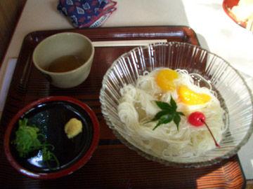 清水寺で食べた素麺