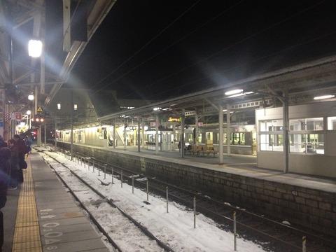 11米原駅雪