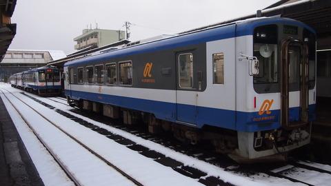 のと鉄道NT200形がずらりと並ぶ