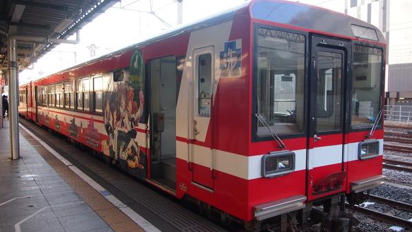 ガルパン列車で大洗へ (2)