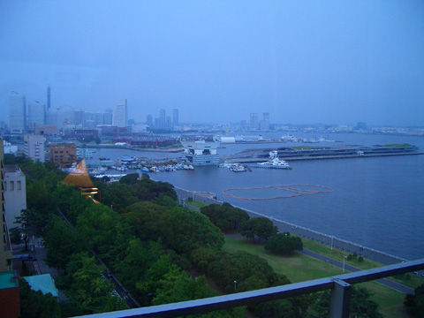 横浜のホテルからの景色1