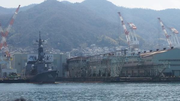 軍港クルーズ(2014春の青春18きっぷ呉) (2)