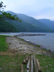 木崎湖桟橋6