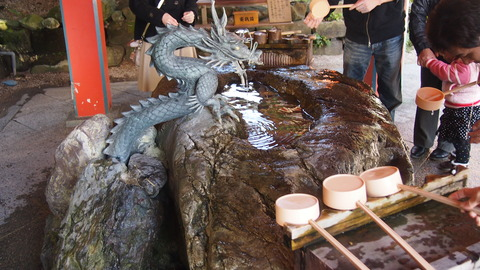 青島神社の手水舎
