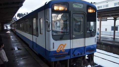 穴水駅ののと鉄道NT200形