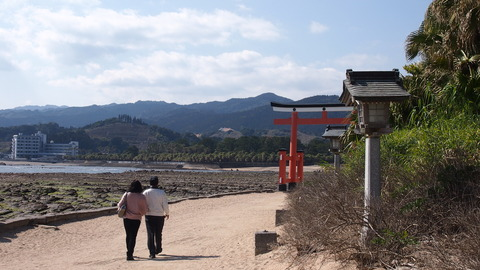 青島神社前から駅方面