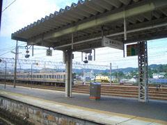 中津川駅にて