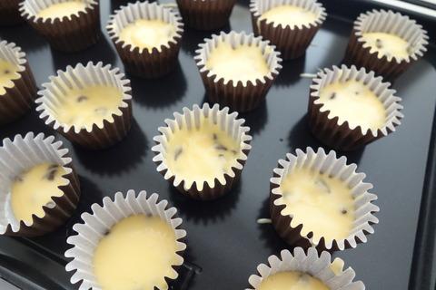 8チョコチップマフィン型に流す