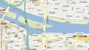 大川にかかる天満橋と、堂島川、土佐堀川と中之島公園で2分される場所での怪