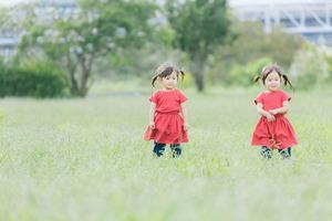 母の葬儀の後。仏壇のある部屋で、双子の2歳幼児が「おじいちゃんが、おばあちゃんをなぐってる!」って二人とも泣く。