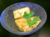 揚げ豆腐アンチョビドレ