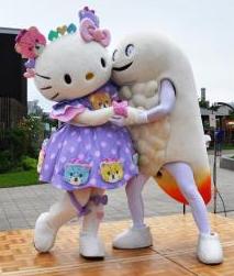 「キモ」と「かわいい」がギュ キティ、北斗で「ずーしー」抱擁