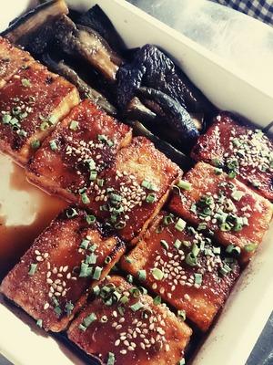 豆腐とナスの蒲焼