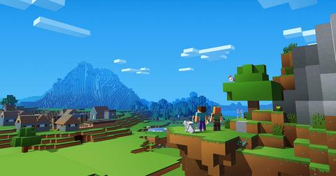 Minecraft-scene