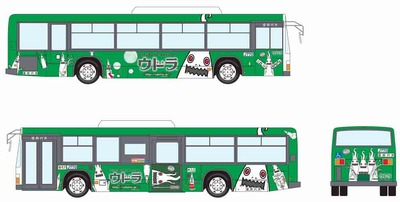 立川バス×ウドラ_ラッピングバス