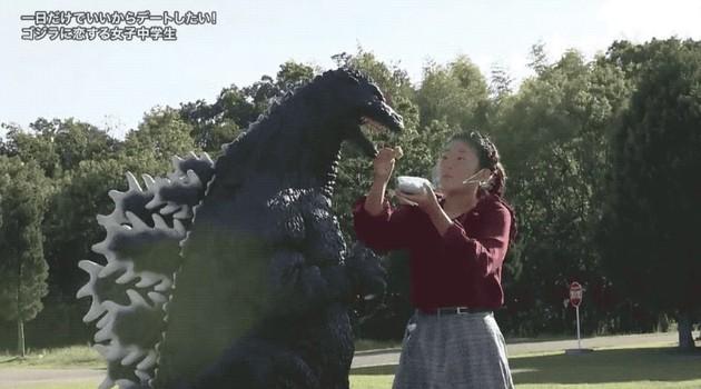 探偵!ナイトスクープ ゴジラ ゴジラとデート 女子中学生 VSゴジラ