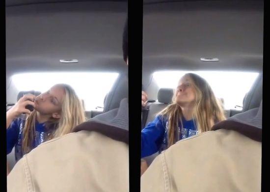 後部座席の娘を隠し撮りに関連した画像-05