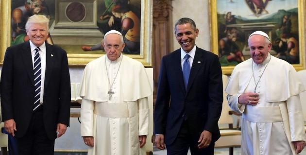 トランプ大統領、ローマ法王に露骨に嫌な顔をされるに関連した画像-03