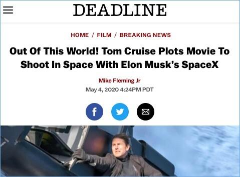 宇宙空間でトム・クルーズ主演の映画に関連した画像-02