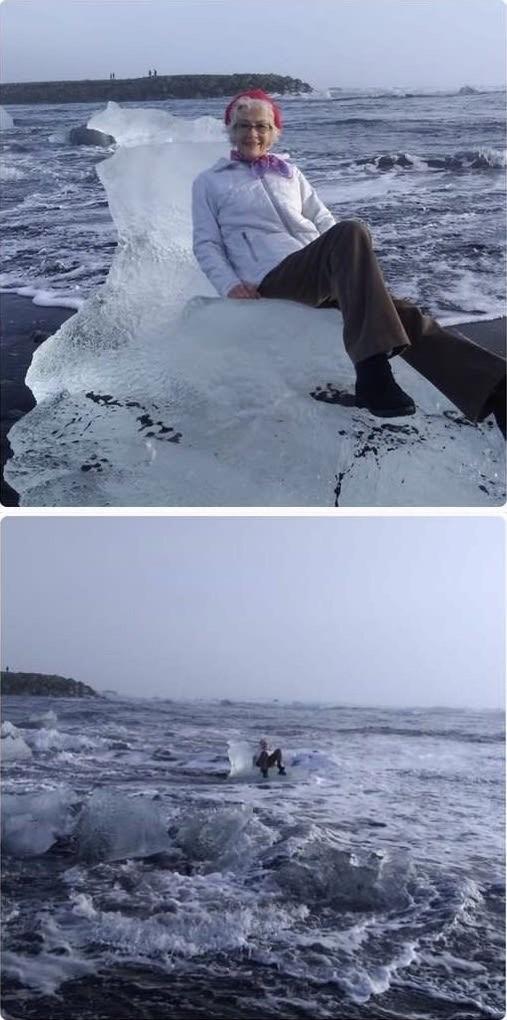 流氷に乗ったおばあちゃんに関連した画像-02