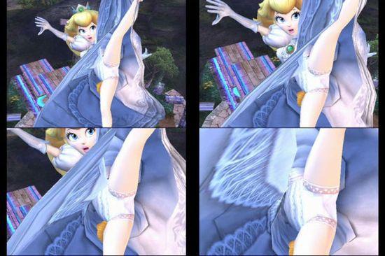3DS『大乱闘スマッシュブラザーズ』スカートの中が暗黒空間に関連した画像-03