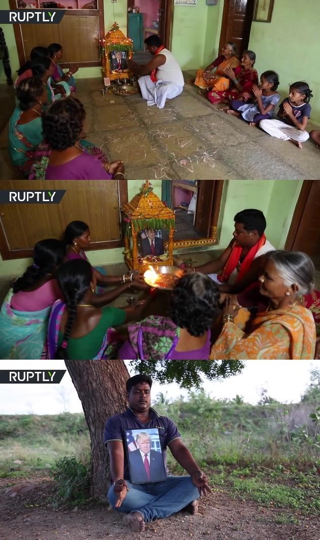 トランプ大統領がインドの村で神にに関連した画像-03