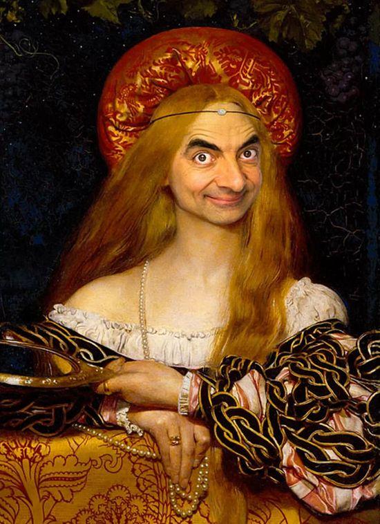 『Mr.ビーン』の顔を歴史ある名画や肖像画に合成に関連した画像-06