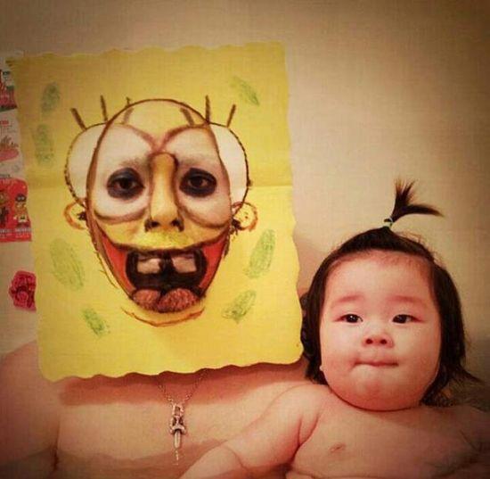 風呂をコスプレショーの場に変えた日本人父娘に関連した画像-05