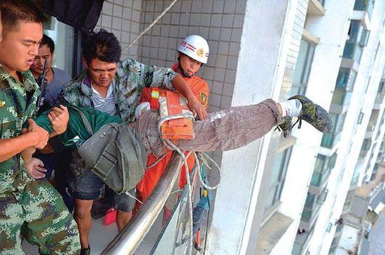 工事音にイラついたアニオタの中国人男児が、作業員の命綱を切断に関連した画像-04