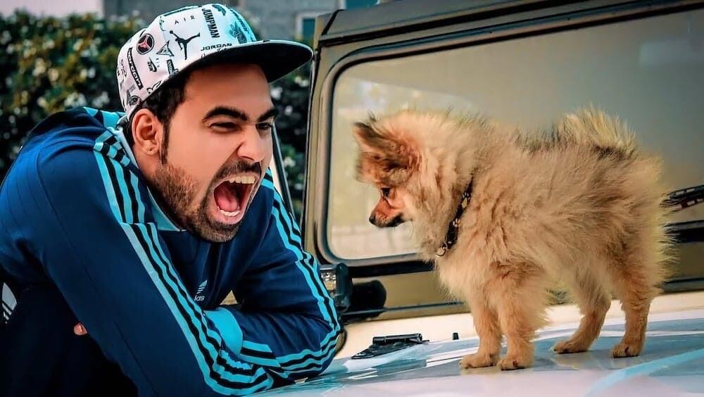 ユーチューバー 犬 インド 風船