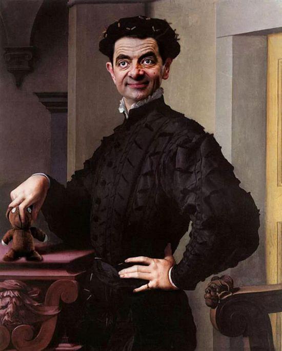 『Mr.ビーン』の顔を歴史ある名画や肖像画に合成に関連した画像-03