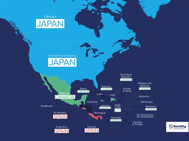 Remitly 移住したい国 日本 ランキング
