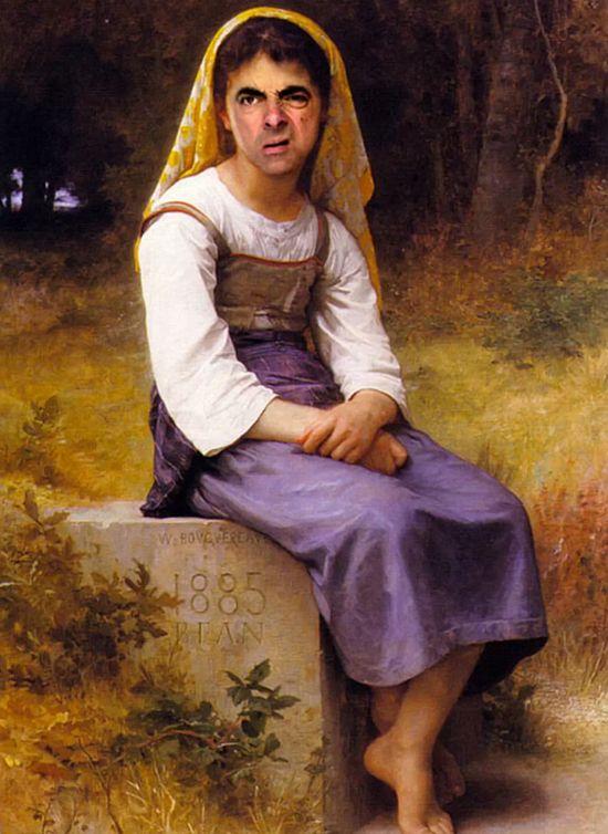 『Mr.ビーン』の顔を歴史ある名画や肖像画に合成に関連した画像-08