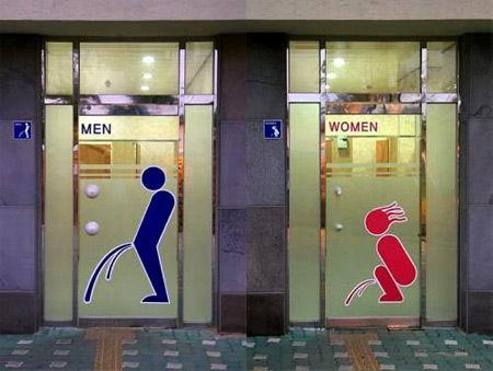 おもしろいトイレのマークに関連した画像-08