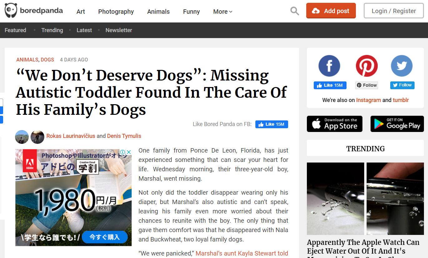 自閉スペクトラム症 行方不明 犬に関連した画像-02
