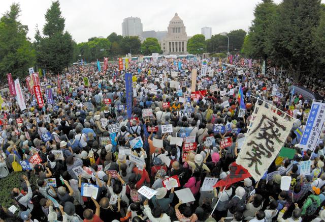 安保法案反対の国会前デモに関連した画像-05