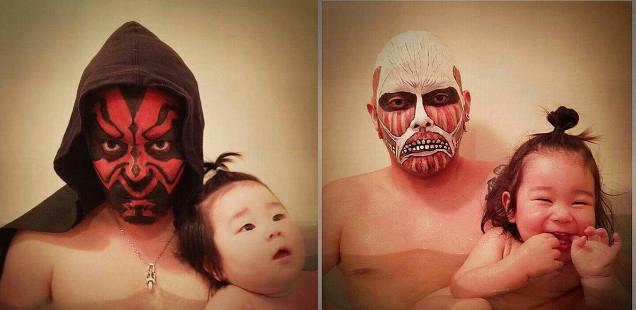 風呂をコスプレショーの場に変えた日本人父娘に関連した画像-01