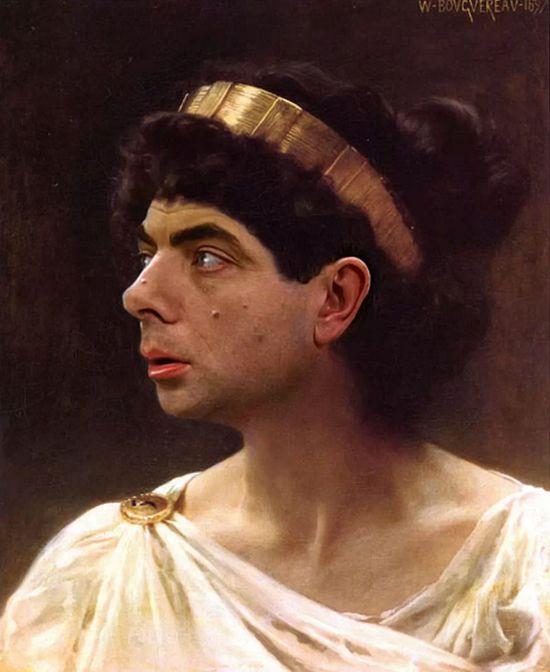 『Mr.ビーン』の顔を歴史ある名画や肖像画に合成に関連した画像-07