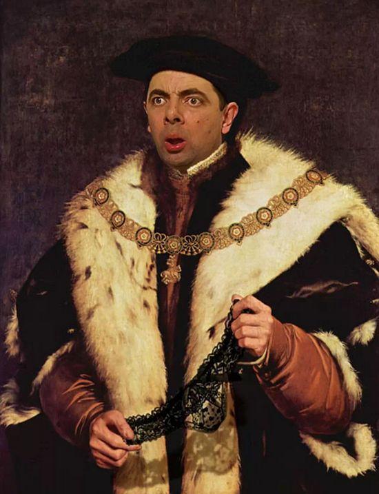 『Mr.ビーン』の顔を歴史ある名画や肖像画に合成に関連した画像-11