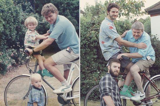 思い出に残る家族写真を現代に甦らせてみたに関連した画像-21