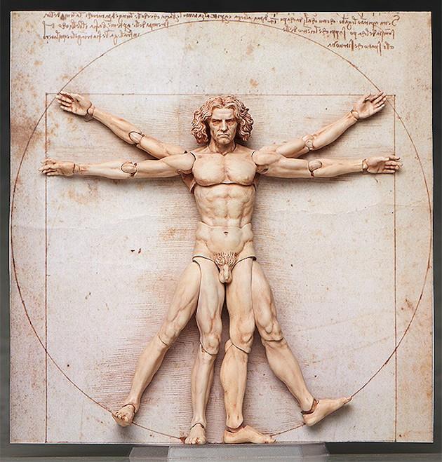 ダヴィンチの 「ウィトルウィウス的人体図」が可動フィギュア化に関連した画像-02